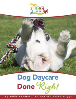 A book by Robin Bennett and Susan Briggs about how to run a dog daycare business correctly.