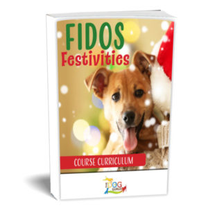 Course curriculum for dogs when the festivities of the holidays roll around that was prepared by the dog gurus.