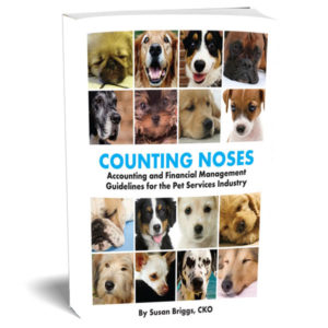 An accounting and financial management book with guidelines to follow for the pet service industry by Susan Briggs.