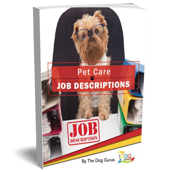 Pet Care Job Descriptions book cover prepared by the dog gurus.