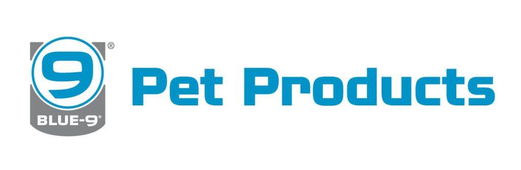 blue 9 pet products horiz logo